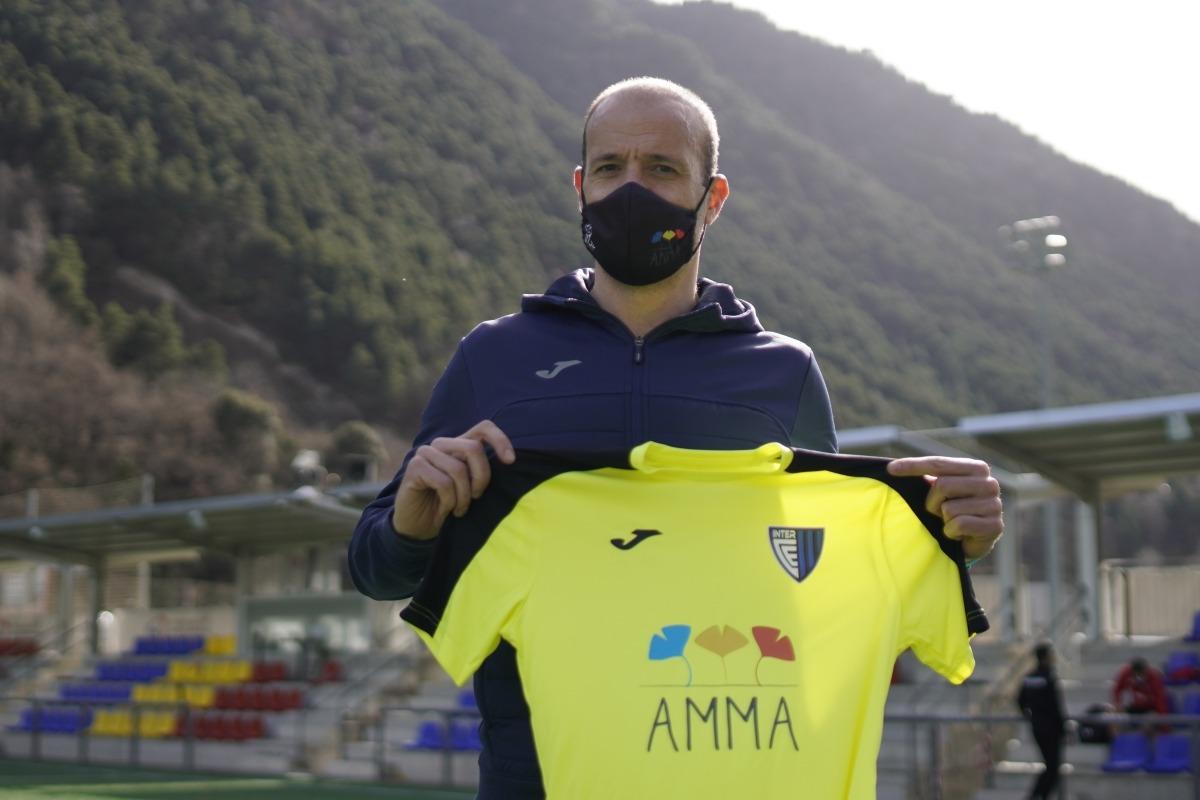 L'Inter, amb la samarreta solidària. Foto: Interescaldes.com