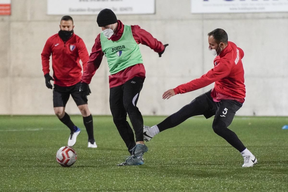 L'Inter Escaldes, en l'entrenament d'ahir a l'Estadi Nacional on es disputa la Supercopa. Foto: Interescaldes.com