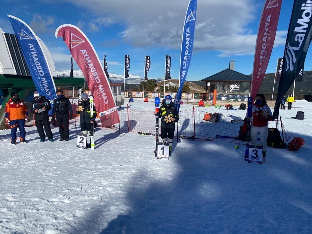 Íria Medina va assolir la victòria a l'eslàlom FIS de La Molina. Foto: Photoset / Toni Grases