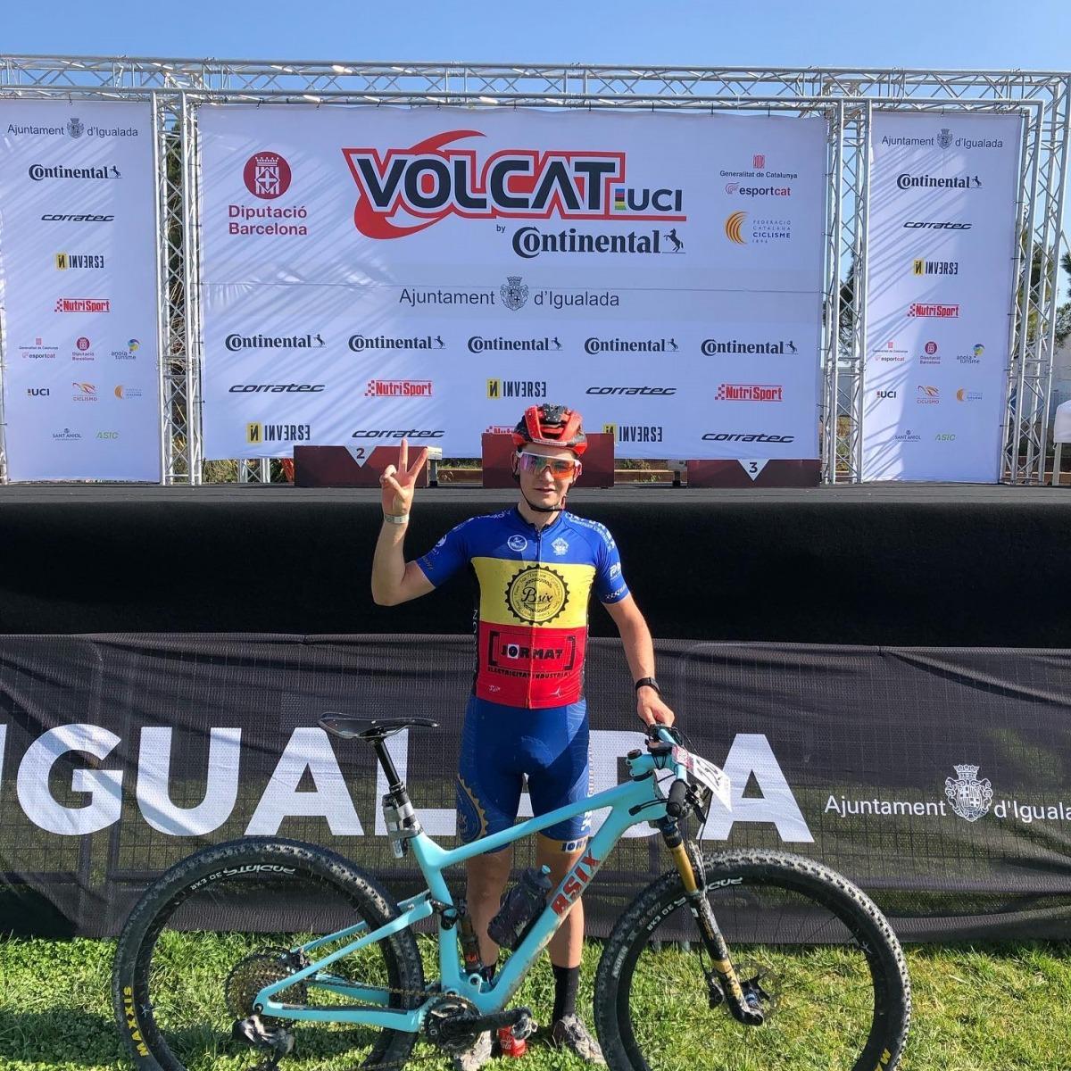 Kilian Folguera va fer podi a Igualada. Foto: Facebook