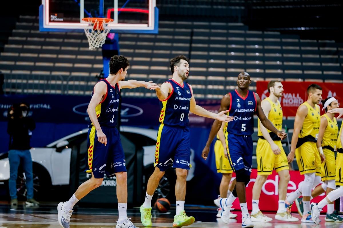 Llovet va ser el millor jugador del MoraBanc en el partit de dissabte contra Tenerife. Foto: ACB Photo / Martín Imatge