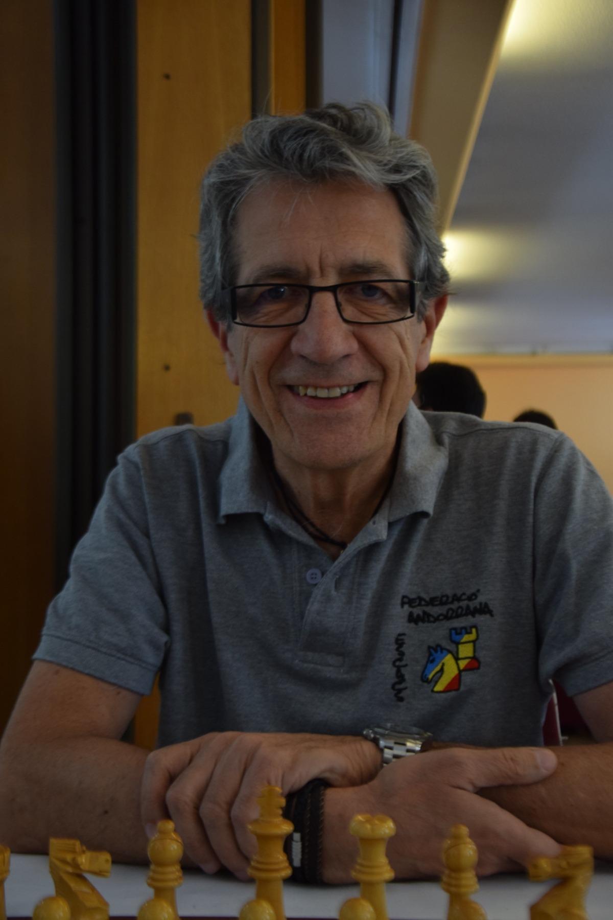 El jugador d'escacs, Raül García. Foto: Federació Andorrana d'Escacs
