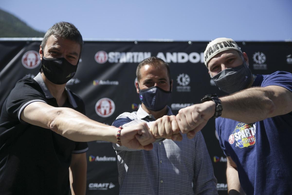 L'Spartan Race es va presentar ahir a Encamp i demà i diumenge omplirà Encamp amb més de 3.300 inscrits. Foto: Facundo Santana