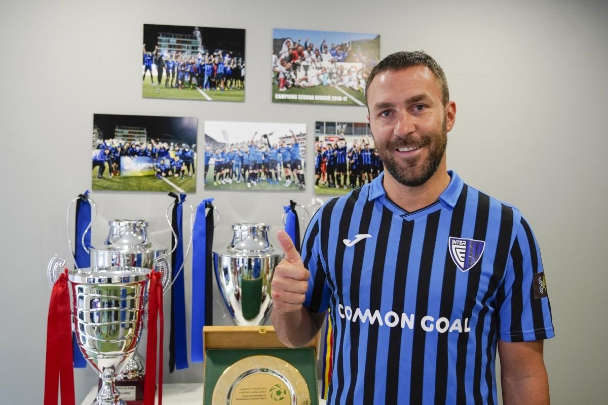 Víctor Casadesús, nou jugador de l'Inter Club Escaldes procedent de l'FC Andorra. Foto: Interescaldes.com