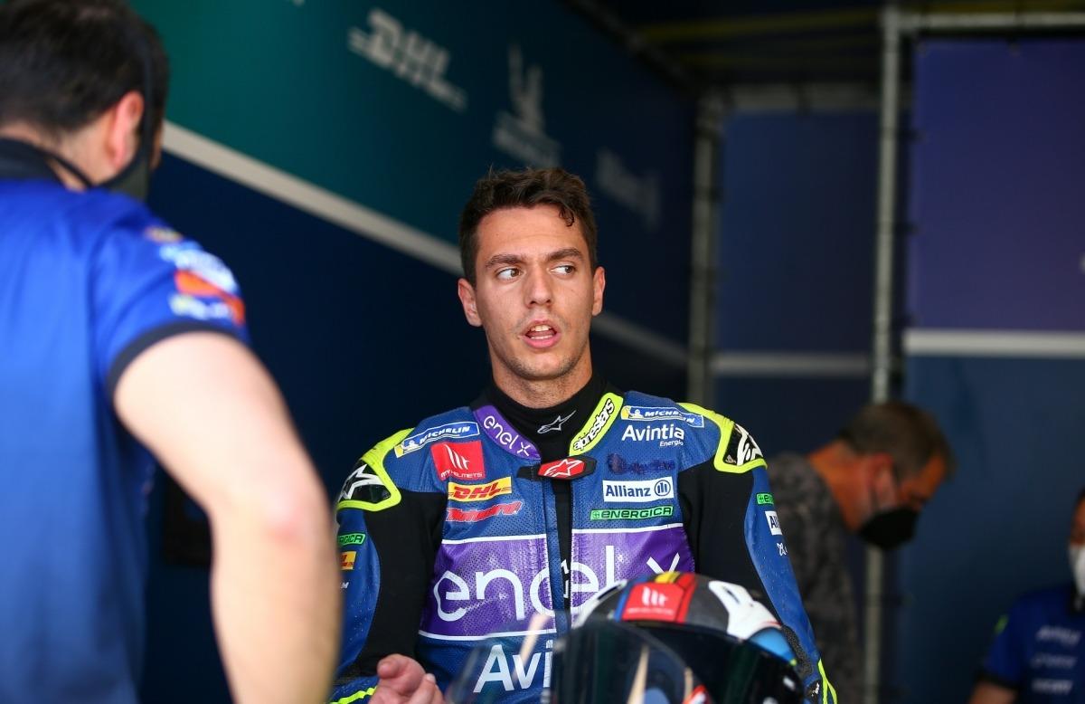 Xavi Cardelús va disputar entre dilluns i ahir el segon test de pretemporada en MotoE. Foto: Avintia Esponsorama Racing