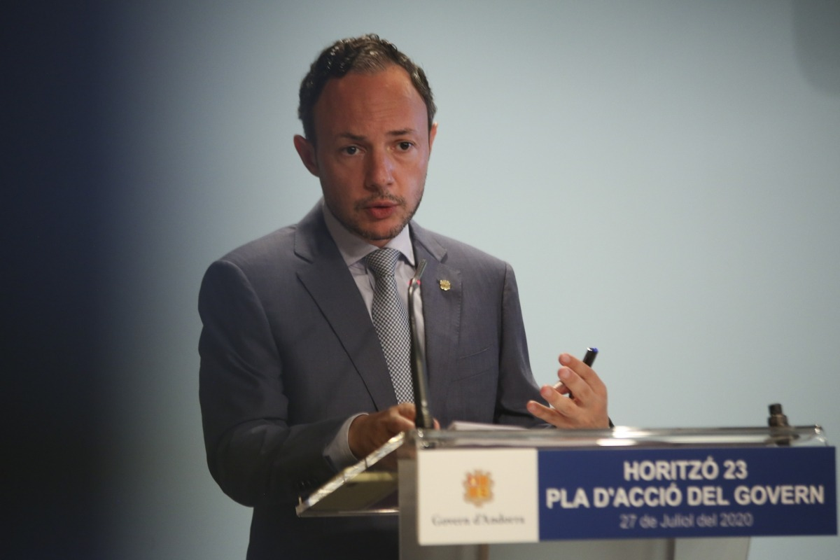El cap de Govern, Xavier Espot, va presentar ahir 'Horitzó 23', el nou full de ruta de l'executiu per revertir els efectes de la Covid-19.