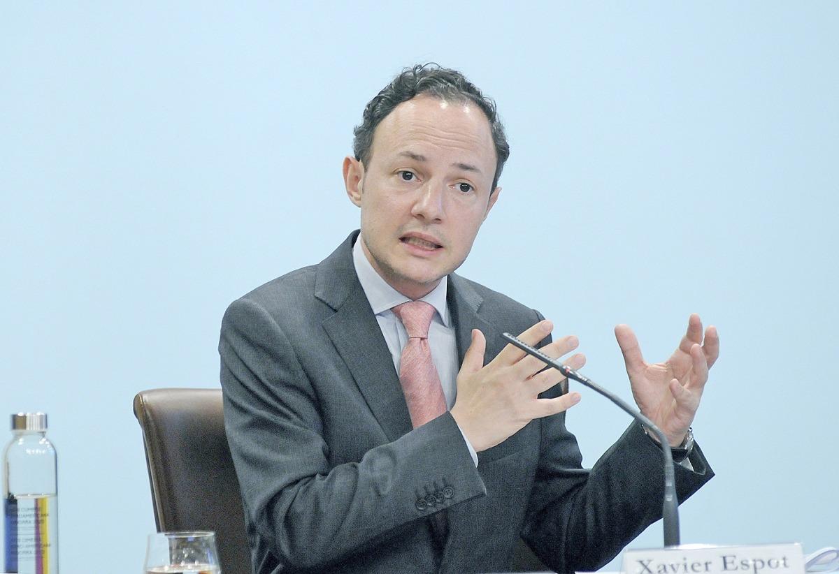 El cap de Govern, Xaviet Espot, en la compareixença d'ahir a a tarda.
