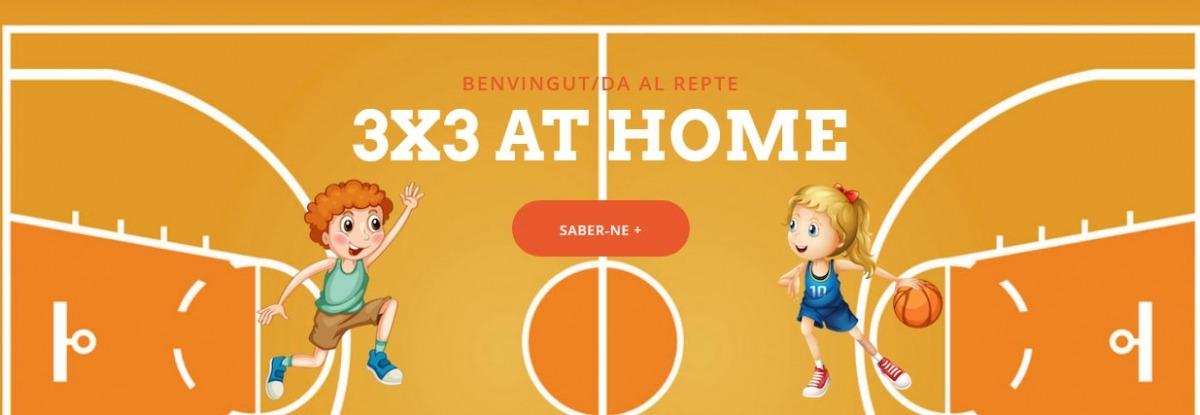 El 3x3 at school de la Federació de Bàsquet passa a denominar-se 3x3 at home.