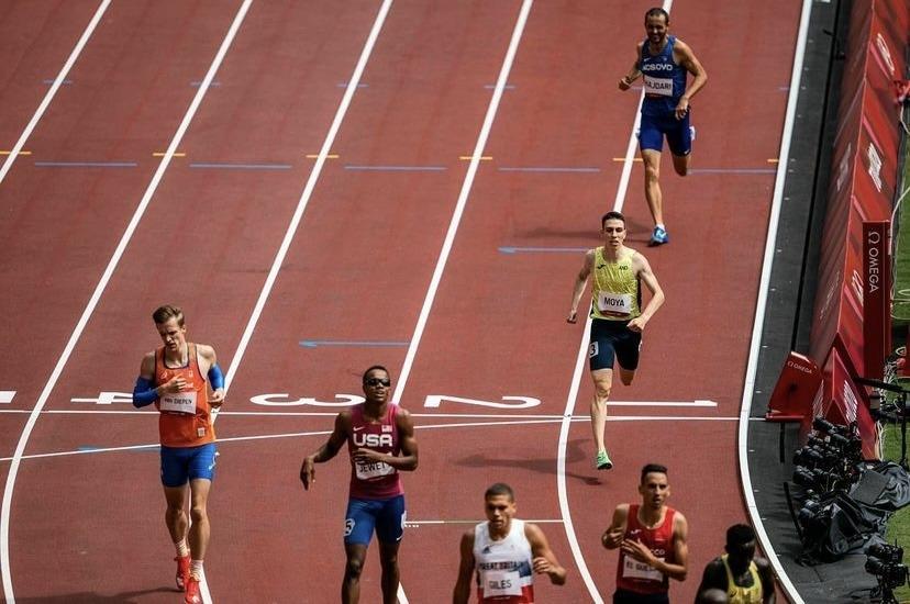 Pol Moya, als 800 llisos dels Jocs. Foto: Instagram