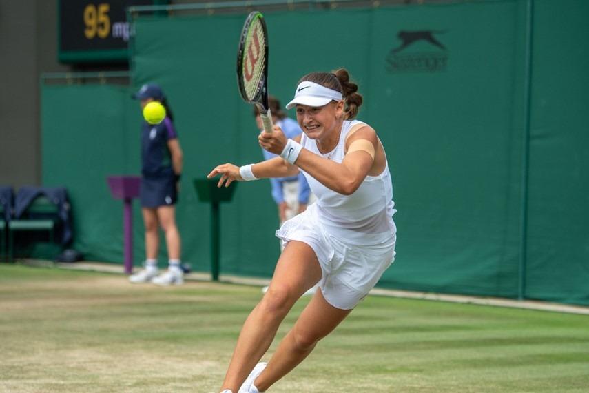 Vicky Jiménez, a Wimbledon. Foto: ITF