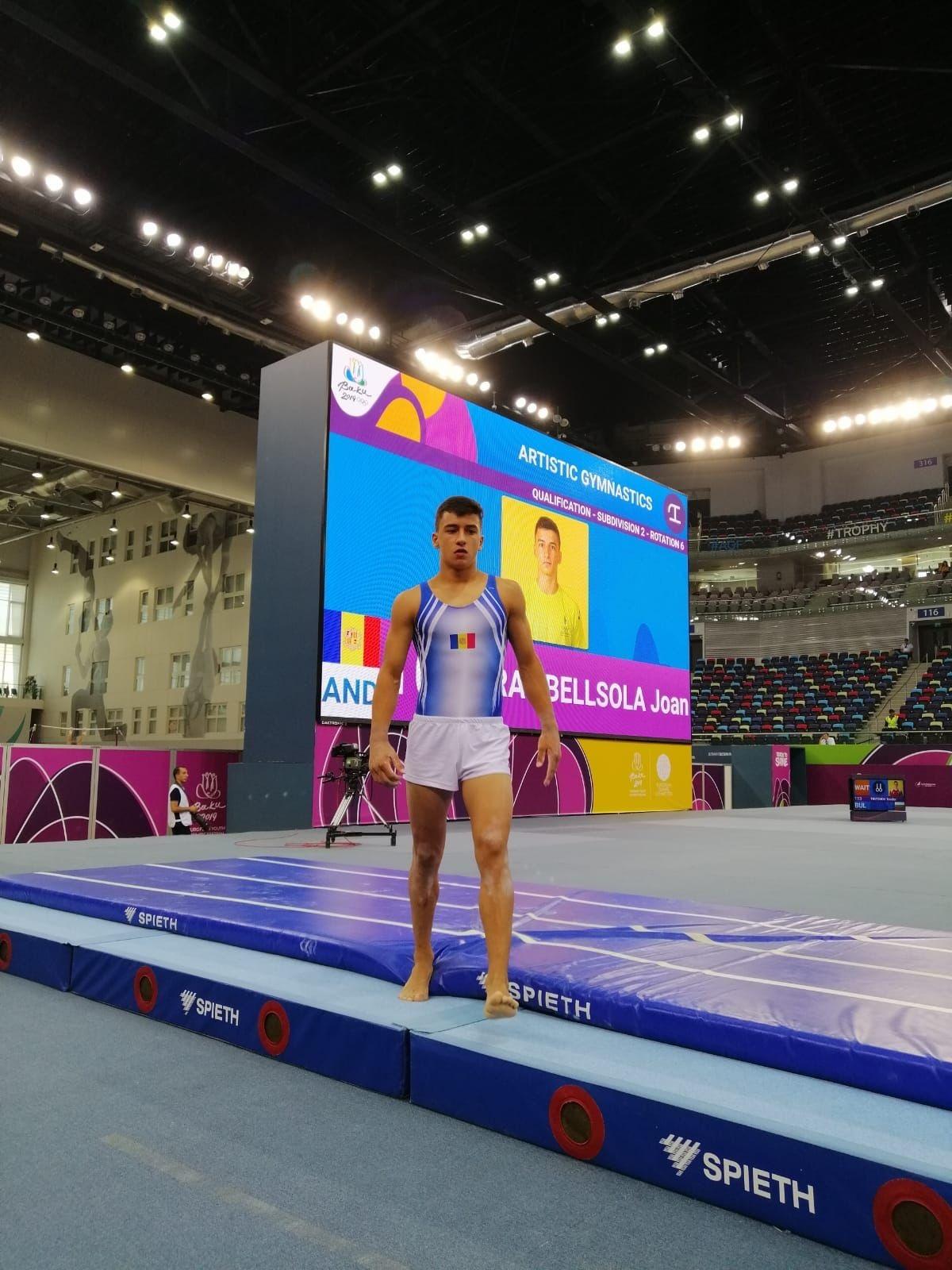 El gimnasta també va competir als FOJE de Bakú 2019. Foto: Foto cedida per Joan Prat