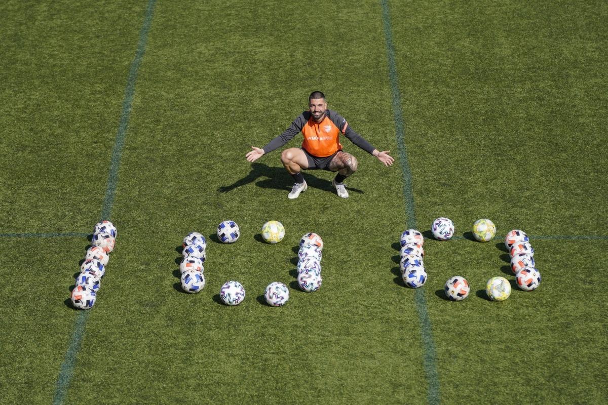 Carlos Martínez, 100 gols a segona B i 16 amb l'FC Andorra. Foto: FC Andorra