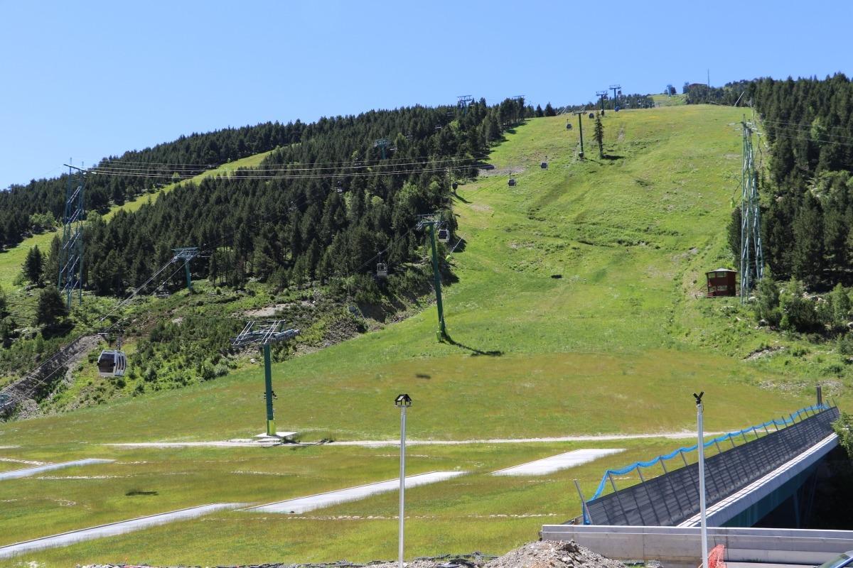La plataforma de Soldeu, seu inèdita i insòlita del festival aixecat per Andorra Turisme.