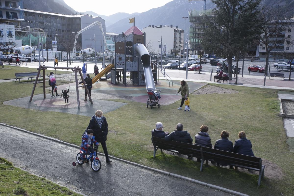 El parc ha estat lloc de trobada per petits i grans.