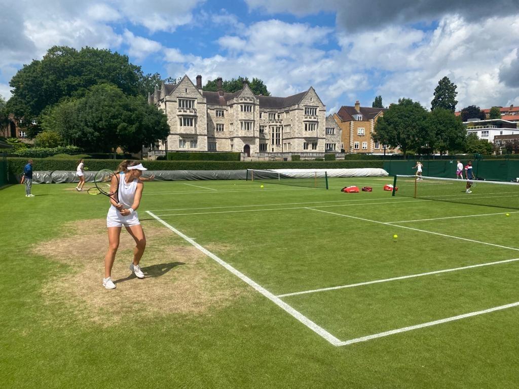 Vicky Jiménez, a Wimbledon. Foto: Joan Jiménez