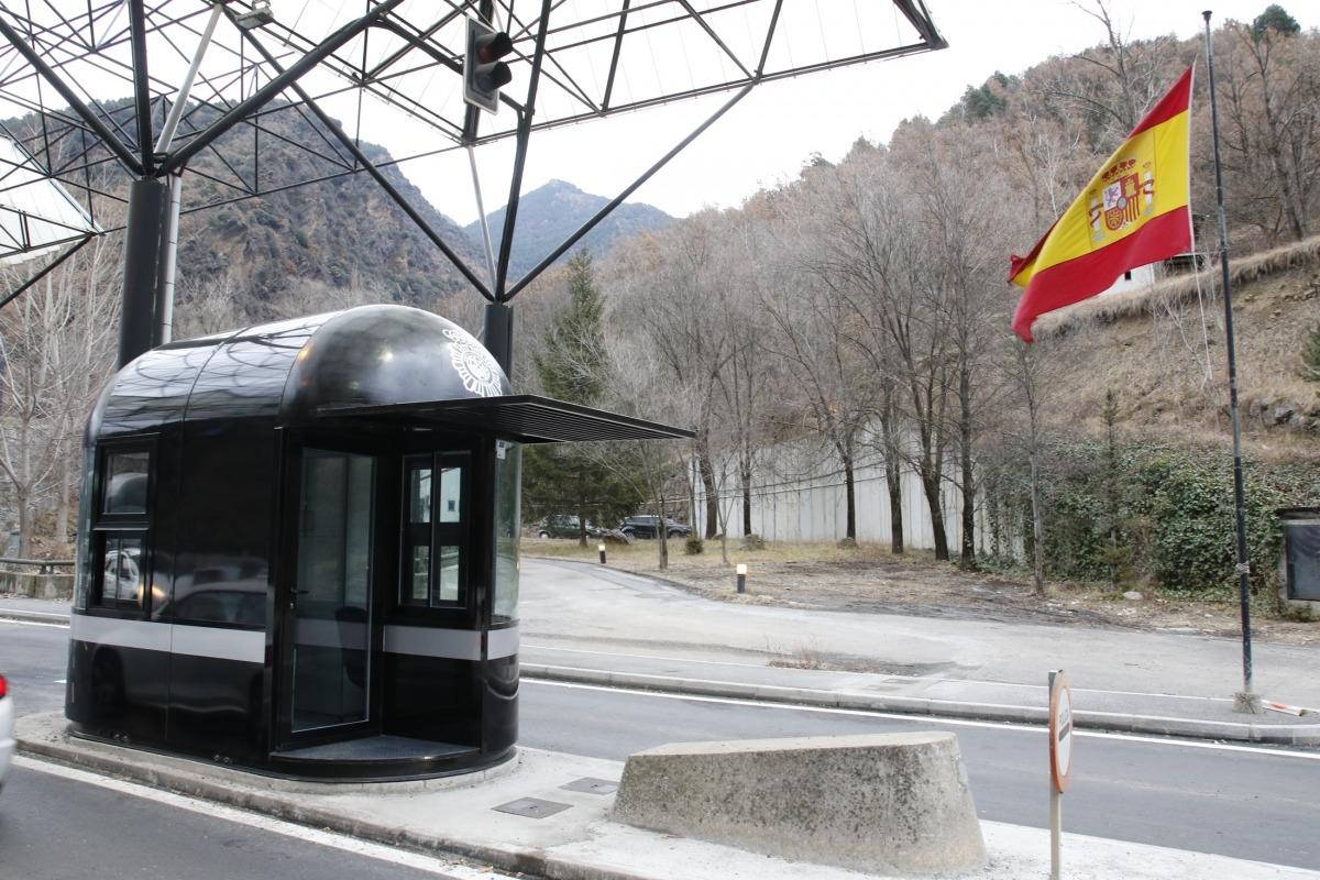 Imatge de la frontera amb Espanya.