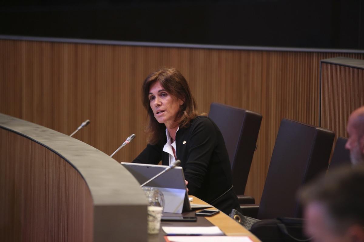 La titular d'Educació i Ensenyament Superior, Ester Vilarrubla.