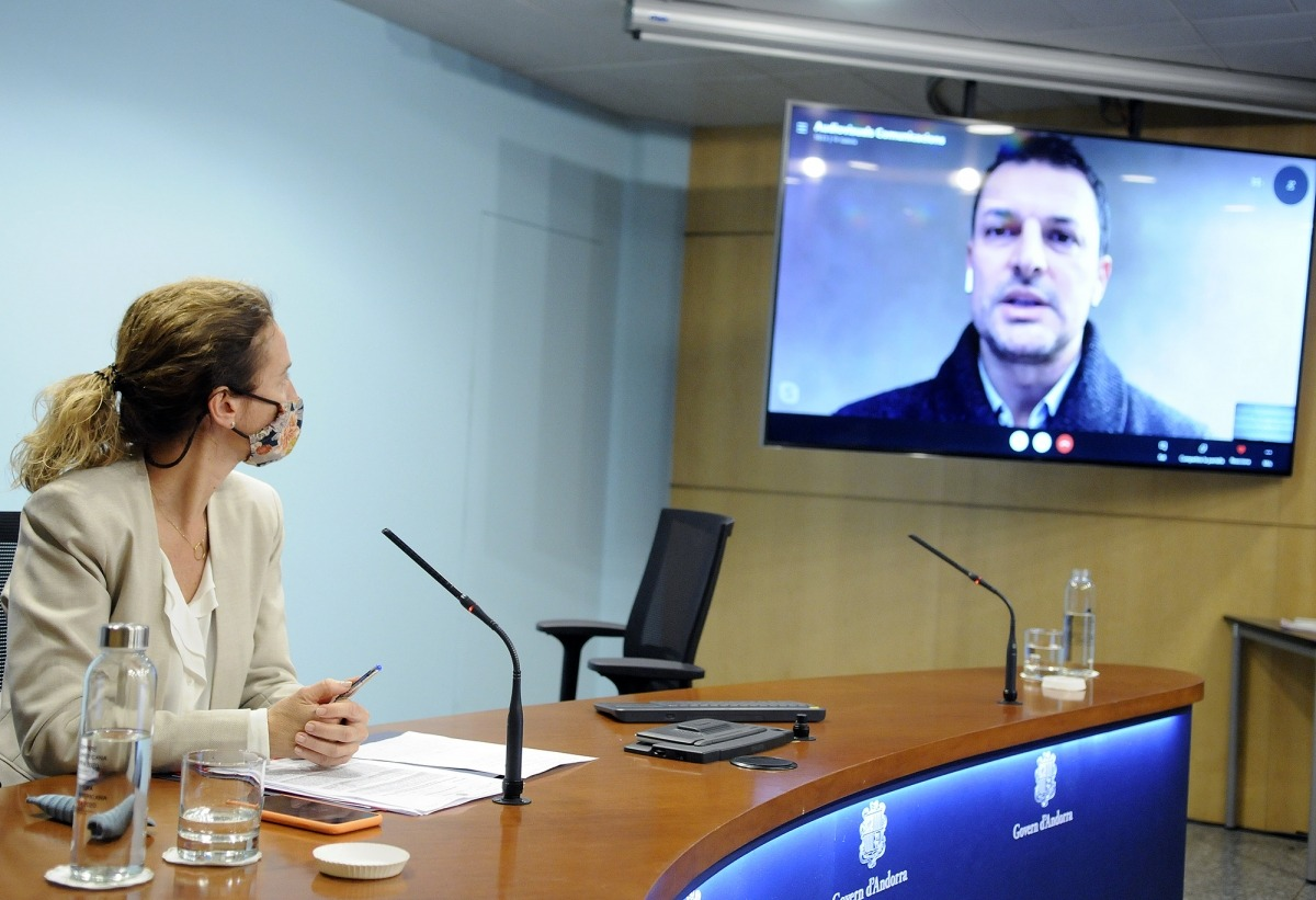 El ministre de Presidència, Economia i Empresa, Jordi Gallardo, va comparèixer per via telemàtica després del consell de ministres.