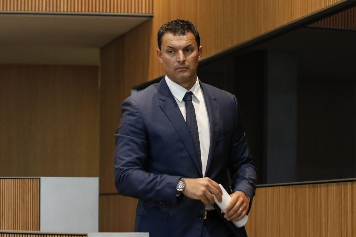 El ministre de Presidència, Economia i Empresa, Jordi Gallardo, en una sessió anterior del Consell General.