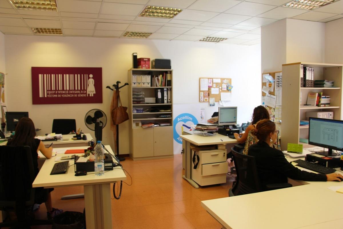 Les instal·lacions del Servei d'Atenció a les Víctimes de la Violència de Gènere.