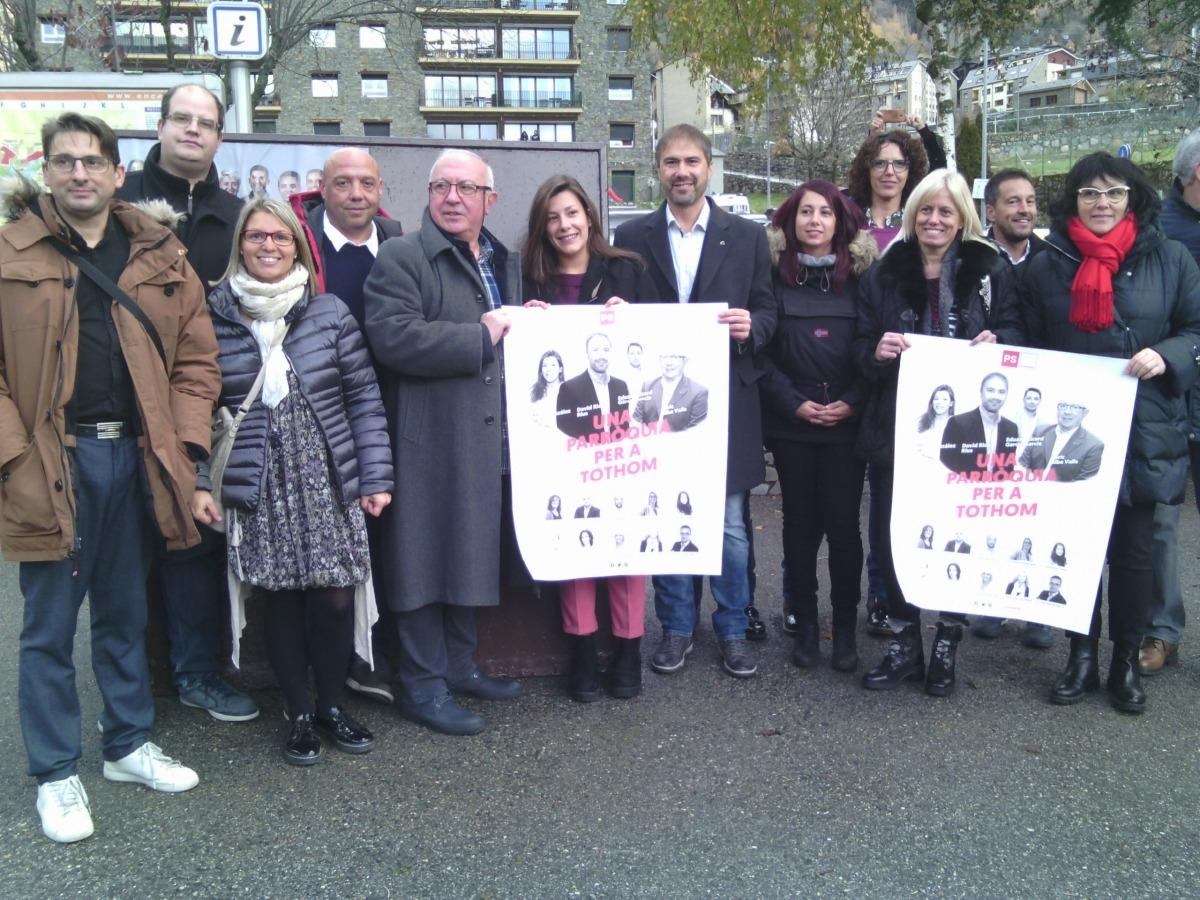 Els candidats del Partit Socialdemòcrata + Independents.