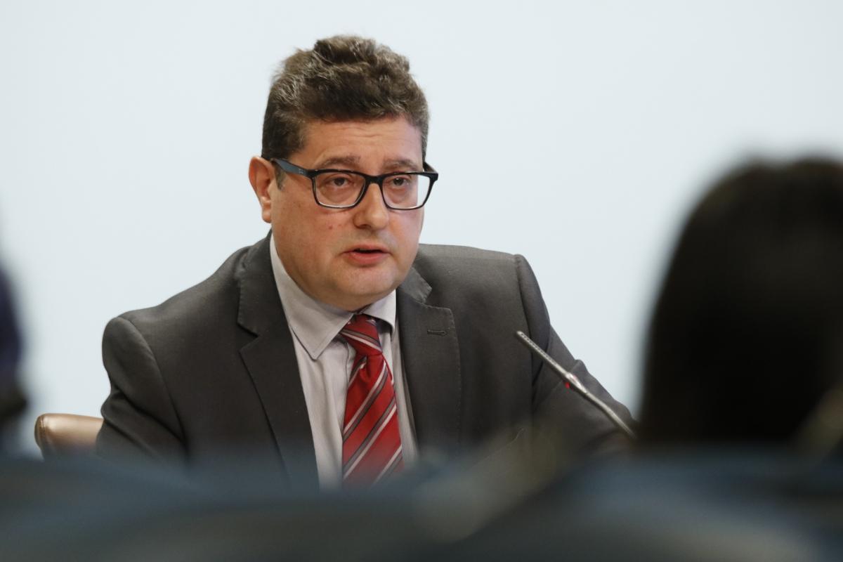 El cap de la Unitat d'Intel·ligència Financera, Carles Fiñana.