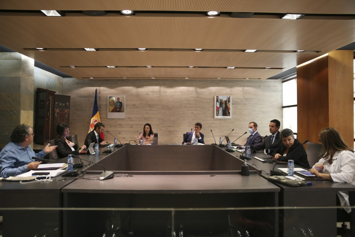 Un instant de la sessió de consell de Comú celebrada ahir a Ordino.