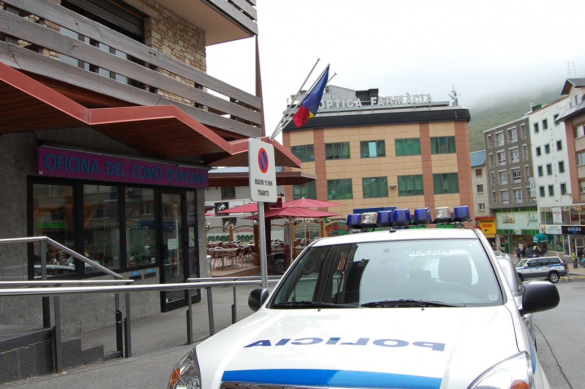 ANA/ Una patrulla de la policia al Pas de la Casa.