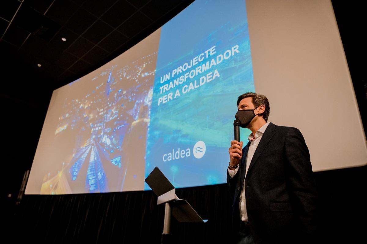 El director general de Caldea, Miguel Pedregal, en la presentació del projecte.