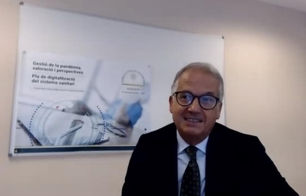 El director general del SAAS, Josep Maria Piqué, durant la seva intervenció en el webinar de l'EFA.