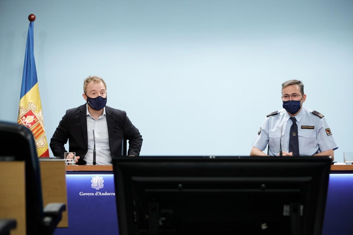 Cristian Pons i Jordi Farré durant la roda de premsa d'aquest matí.