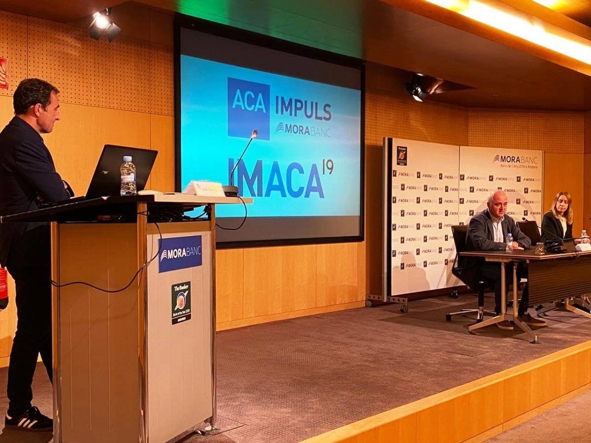 Un moment de la presentació de l'Imaca, aquest matí.