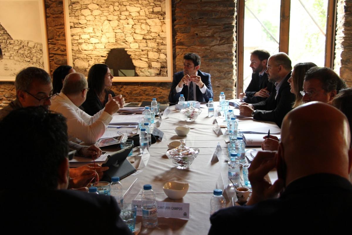 Els cònsols van celebrar la reunió mensual a Cal Pal de la Cortinada, ahir.