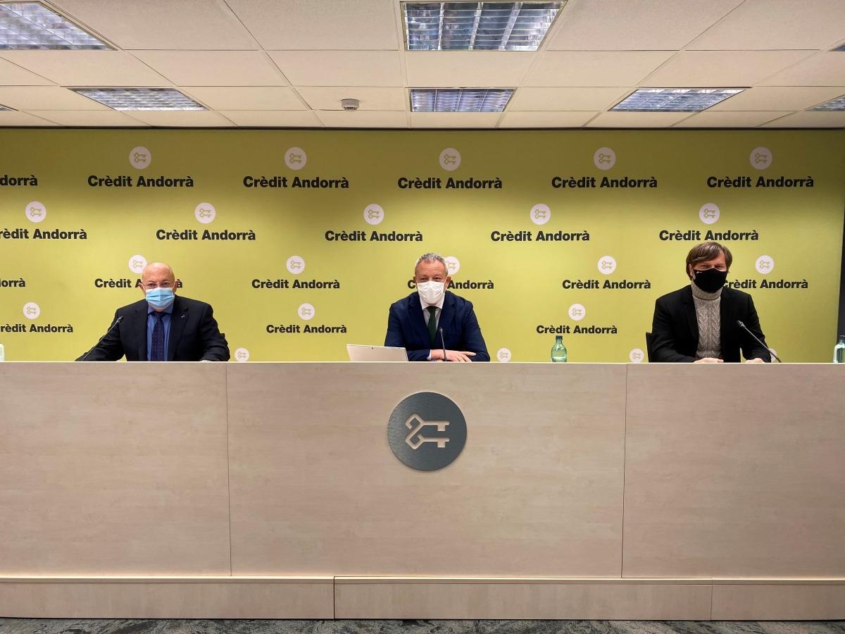 José Manuel Lara es va presentar ahir al matí en una roda de premsa telemàtica a Crèdit Andorrà. Foto: Crèdit Andorrà