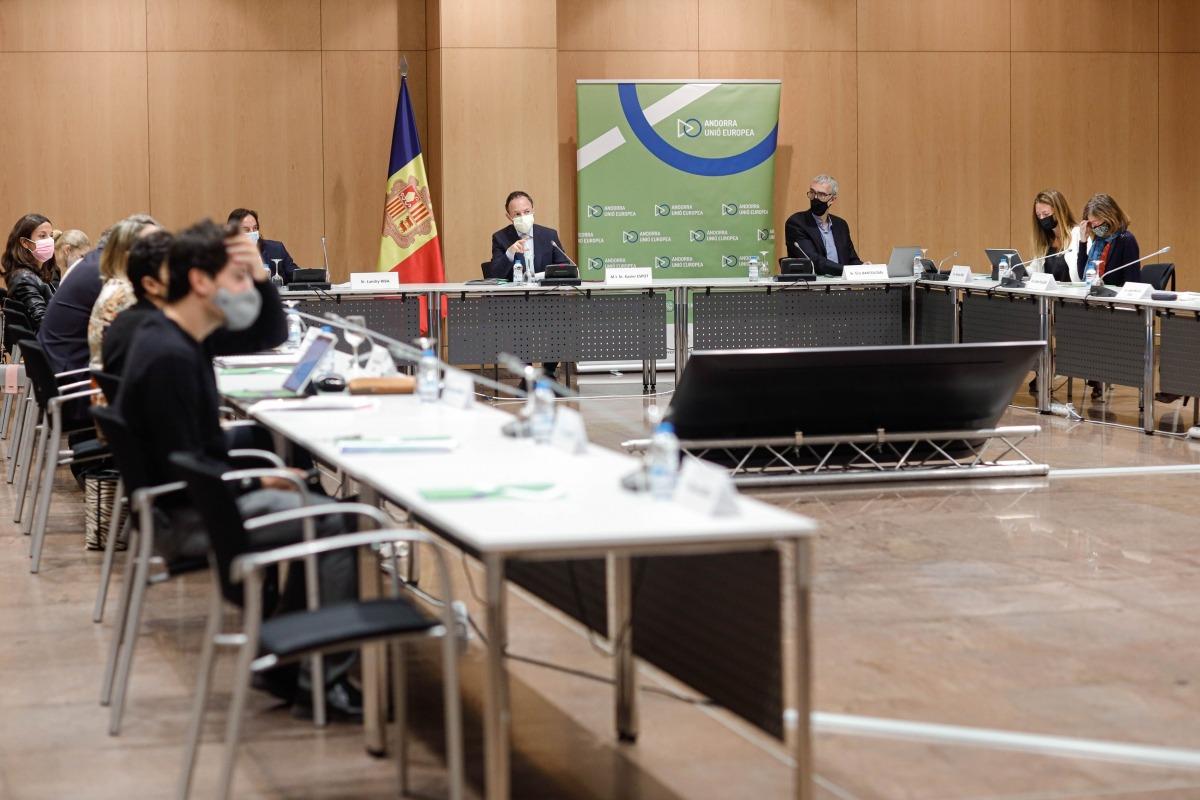Un moment del segon seminari sobre l'acord d'associació amb els agents socials i econòmics.