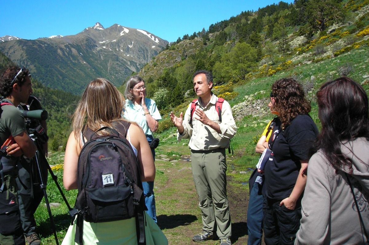 Una sortida en el marc del Festival de la Flora al Pirineu.