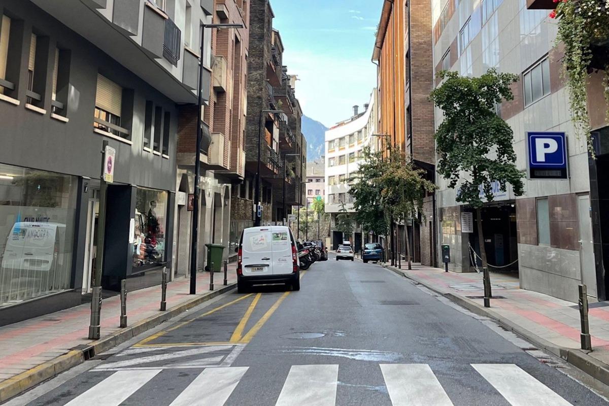 Un dels carrers d'Andorra la Vella que estarà demà tallat al trànsit.