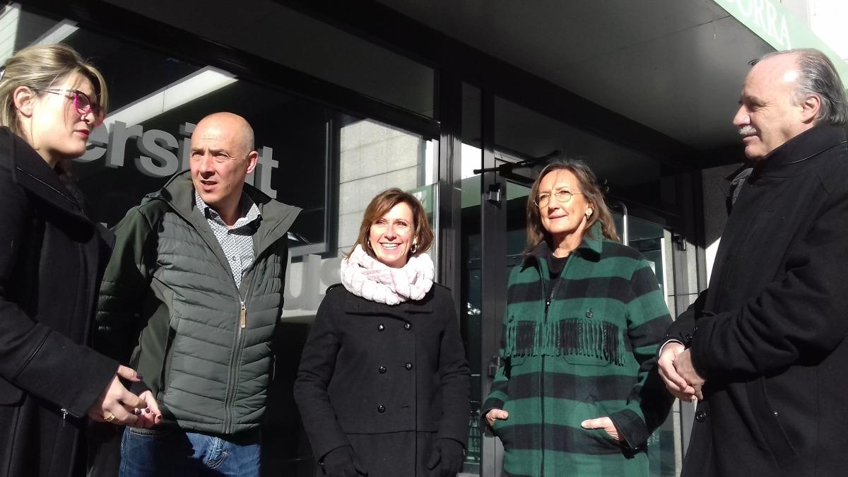 Candidats de Terceravia van visitar ahir l'UdA.