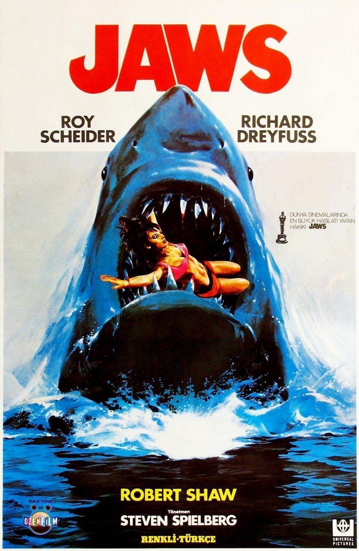 Cartell de regust clàssic per a un títol essencial dels 70: 'Tiburón', de Spielberg.
