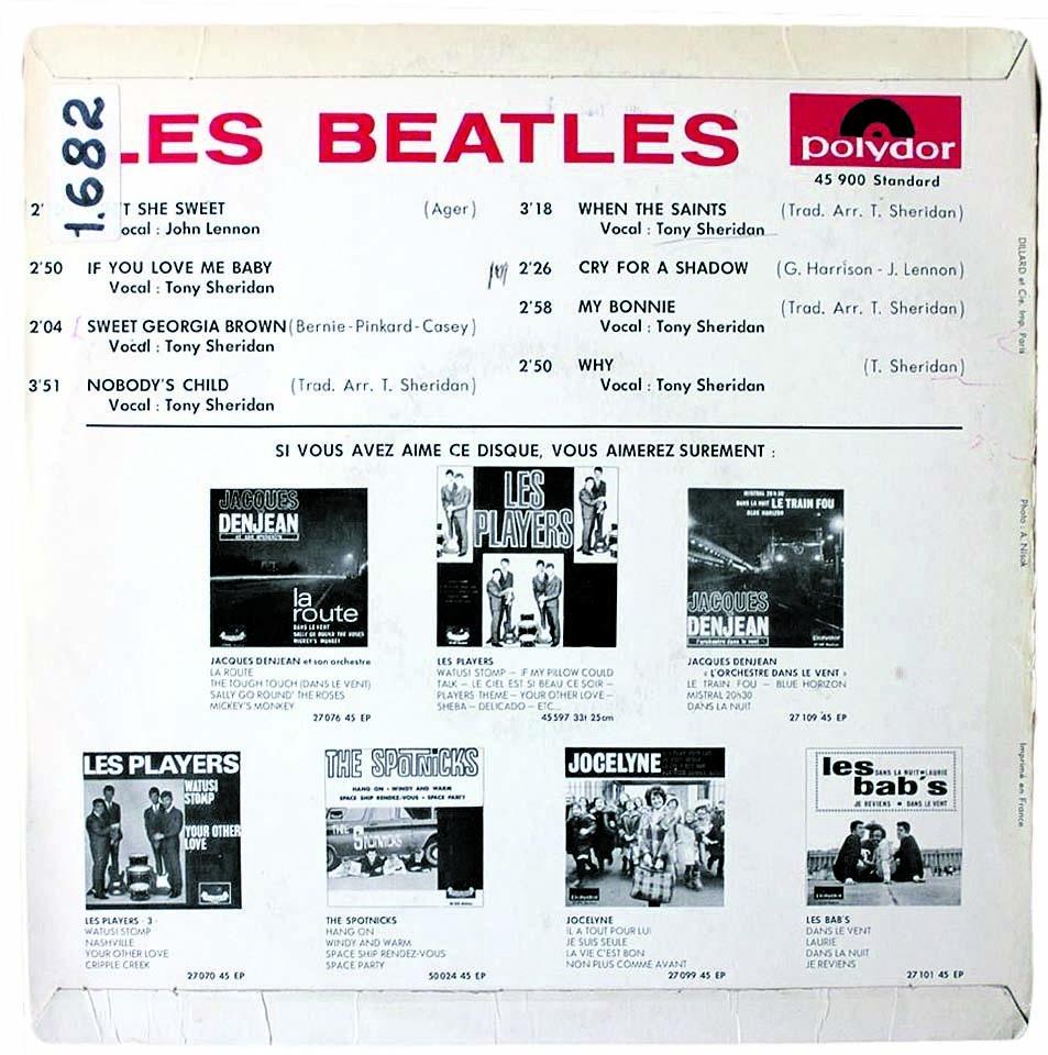 Portada i contraportada de 'Les perruques', editat a França per Polydor el maig del 1964.