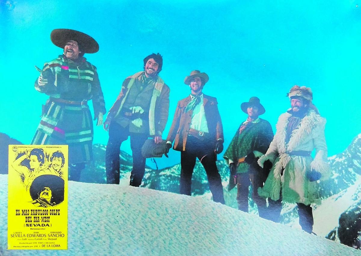 Part del material recuperat per Alvaro de Araujo: Carmen Sevilla, Mark Edwards i Fernando Sancho, que sempre feia de dolent i de mexicà, són els protes de la pel·lícula.