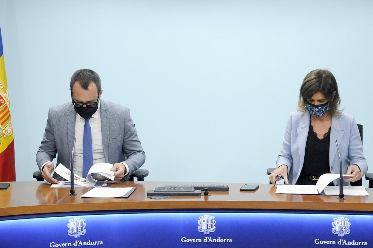 Els ministres Filloy i Vilarrubla han presentat aquest matí el Pla de la infància.