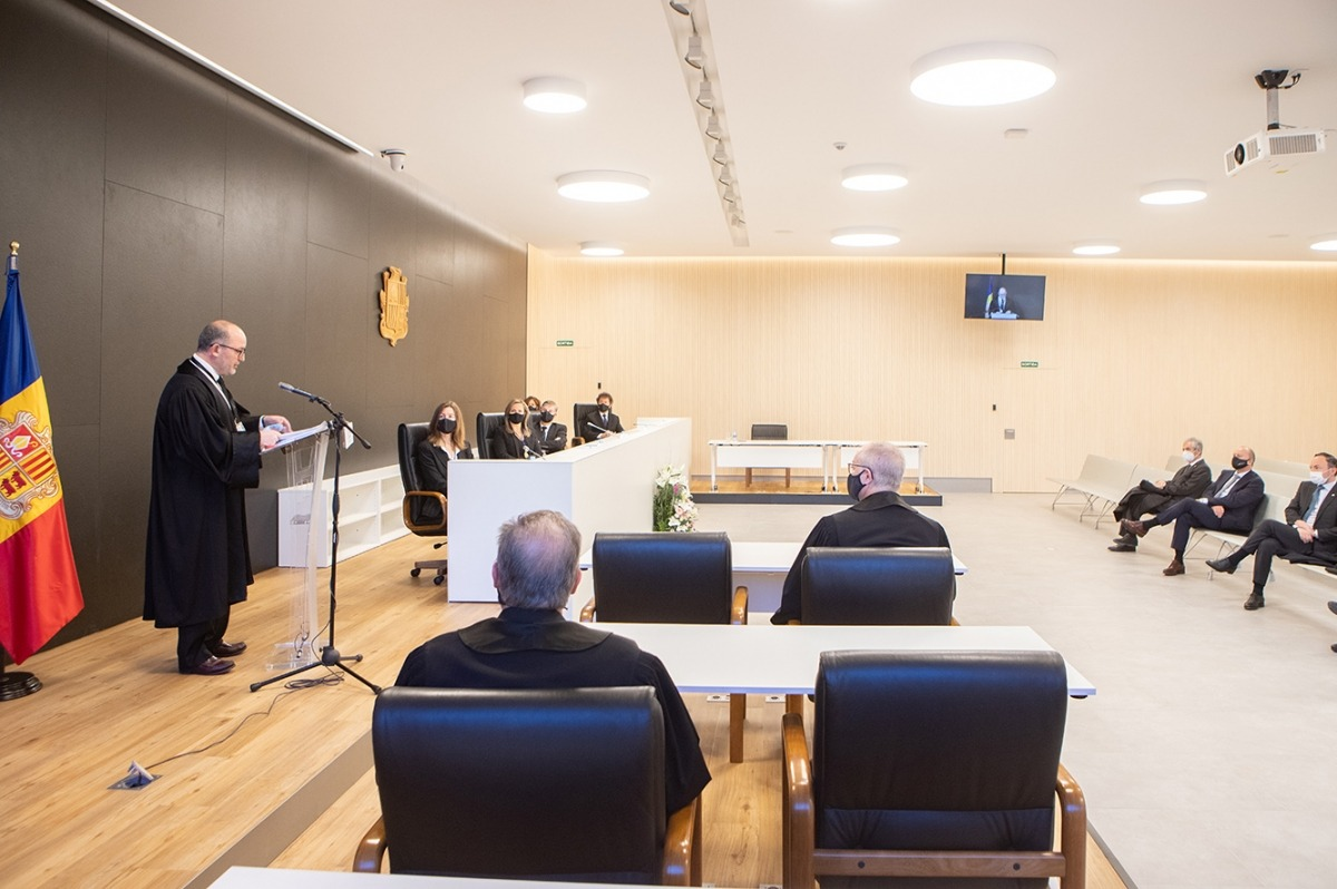 Discurs del fiscal general, Alfons Alberca, davant de les autoritats que han assistit aquest matí a l'obertura de l'Any judicial.