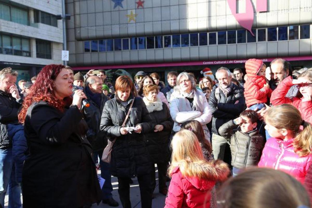 L'exposició es va inaugurar dissabte a la plaça de la Germandat, centre neuràlgic del recorregut.