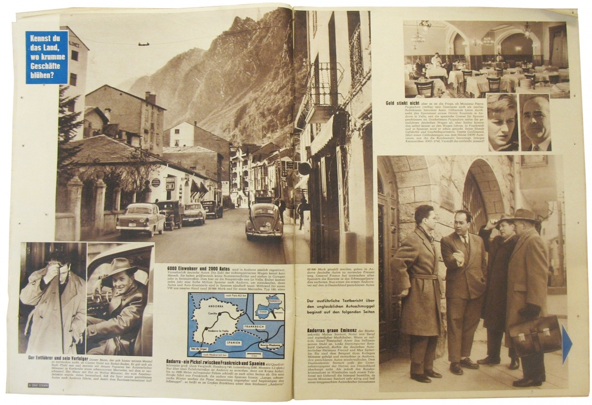 Andorra, Stern, 1959, contraban, mercat negre, Uberall, Hitler