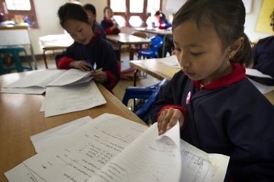 Un grup de nens de Bhutan