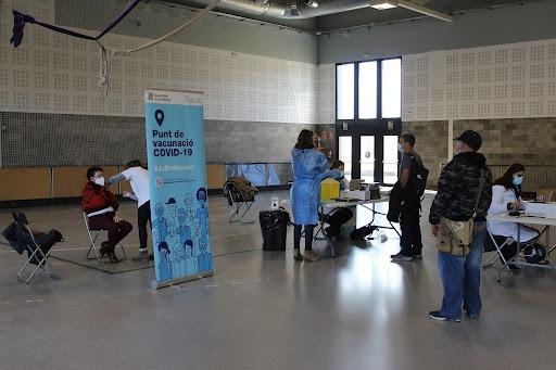 Una imatge de la campanya de vacunació a la Seu.