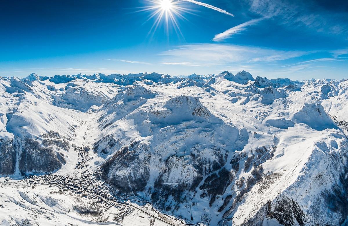 Les pistess de Val d'Isère.