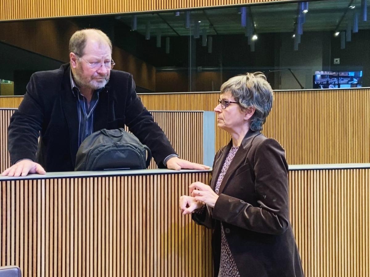Els parlamentaris del PS Jordi Font i Susanna Vela.
