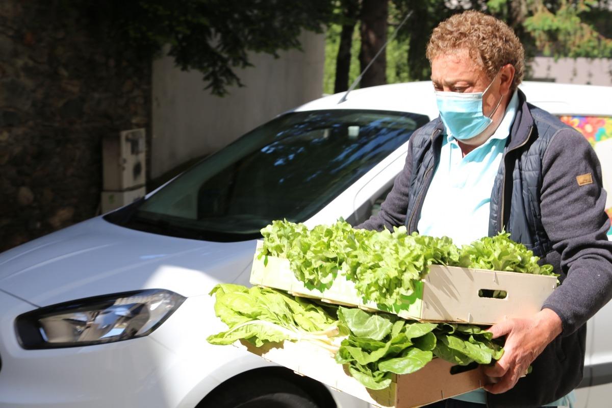 Les primeres verdures ja arriben al Rebost Solidari de Càritas Parroquial